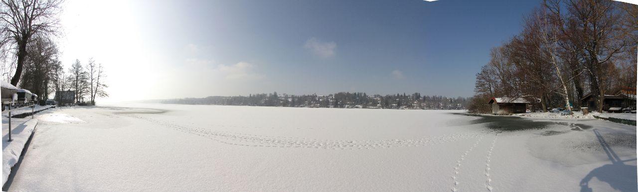Der Pilsensee im Winter: Danke an Giancarlo für das Panorama
