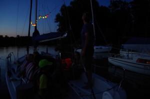 Nachtfahrt auf dem Pilsensee